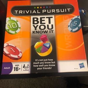 ✨TRIVIAL PURSUIT- 'Bet you know it'✨RARE ITEM!!!